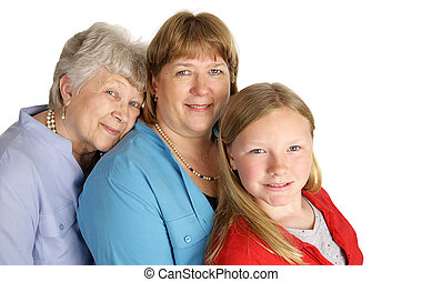 Three Generations of Beauty - A beautiful grandmother,...