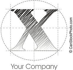 X logo - a line X logo