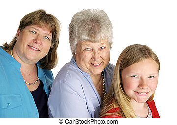 Just The Girls - A mother, grandmother and little girl...