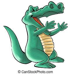 a crocodile - a happy crocodile