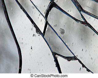 Shattered Mirror - Macro shot of pattern created by...