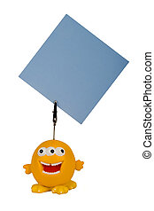 funny notes holder - yellow character notes holder, put your...