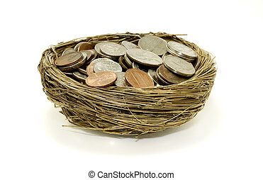 Savings - Photo of Money ina Nest - Retirement Savings...