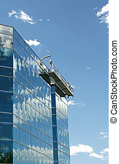 Window Washers Scaffold - A scaffold for a window washer...
