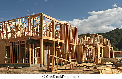 New Home Construction - The construction site of new homes...