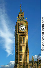 Big Ben - Whole view of clock tower Big Ben