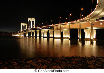 Sai Van bridge, Macau - The night of Sai Van bridge in Macau