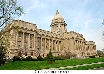 Kentucky State Capitol Building in Frankfort, Kentucky, USA.