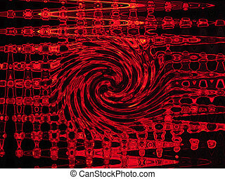 Abstract fiery twisted background