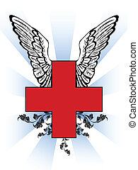 First aid red cross