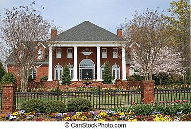 luxury brick house