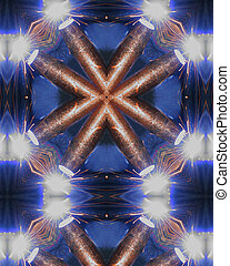 welders torch cross - kaleidoscope cross from photo of...