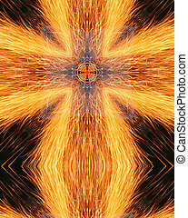 sparks cross6 - kaleidoscope cross from photo of sparks from...