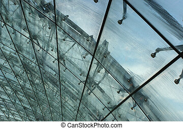 Glass Roof in the ra - This glass roof is part of the train...