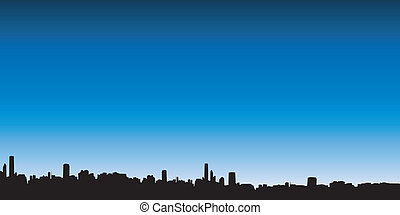 City skyline - Silhouettes of a city skyline