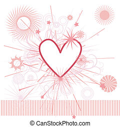 Heart background with ornate decoration