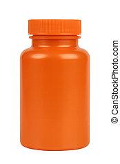 laranja, jarro, plástico