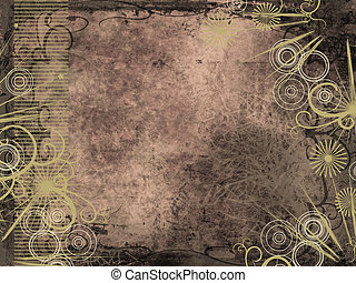 Grunge style background - Grunge background with ornate...