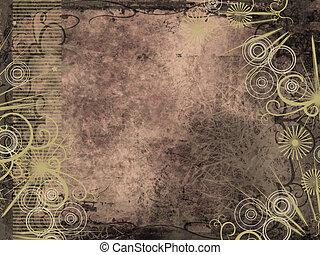 Grunge style background - Grunge background with ornate...