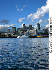 London city - Central London panorama from river Thames...