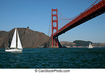 San Francisco Bay - Sailing by the Golden Gate