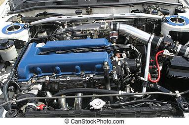 Nissan Engine - A Nissan engine with some Stillen Parts