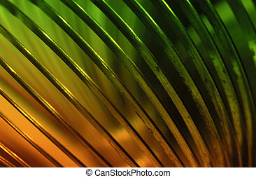 Coil - Abstract Photo of a Metal Coil Wtith Color Gel -...