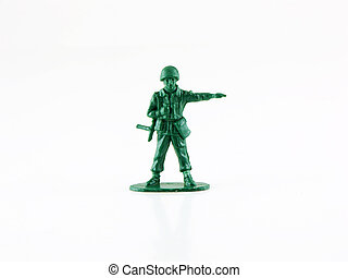 Army Man - Photo of an army man isolated on white