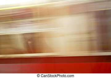 Metro abstract - Abstract view of moving metro train...