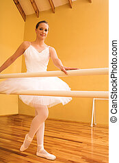 Ballerina #09 - Lady doing ballet in a dance studio