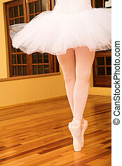 Ballerina #13 - Lady doing ballet in a dance studio