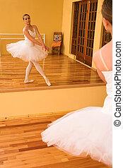 Ballerina #26 - Ballerina dancing in front of a mirror