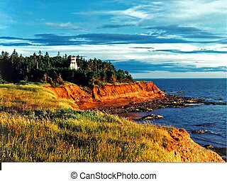 Lighthouse Look-Out - Photographed on the coast of Prince...