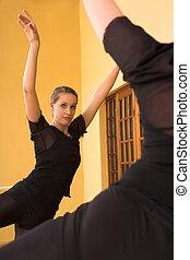 Ballerina #58 - Ballerina dancing in front of mirror