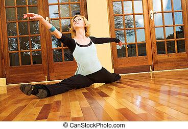 Dancer #38 - A Female Dancer practicing in her studio - in a...
