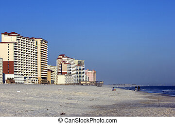 Orange beach - Newly constructed condos and hotels in...