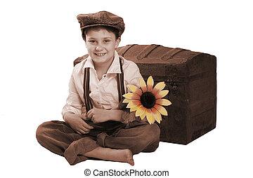 vintage smiling child