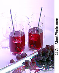 Grape juice in glasses - Grapes and grape juice in glasses...