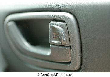Car Door Handle - A close up shot of a car door handle
