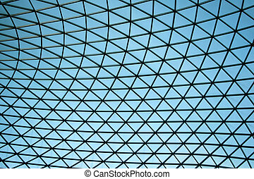 Abstract ceiling - Blue abstract triangular ceiling...