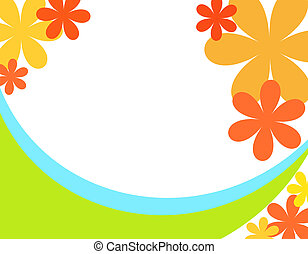 Floral curves - Bright colorful flowers and curves