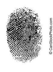 Hi Res Thumbprint - Single black Thumbprint - simple...