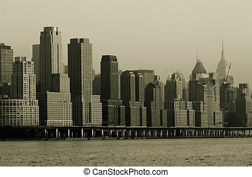 Manhattan in retro - Retro 1930s look of midtown Manhattan...