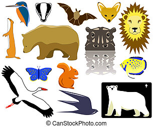 Animals - Selection of animal designs and pictograms
