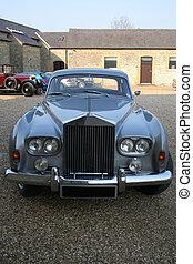 Luxury English car - Luxury English car in a village car...
