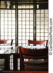 Japanese restaurant - Interior of a modern japanese...
