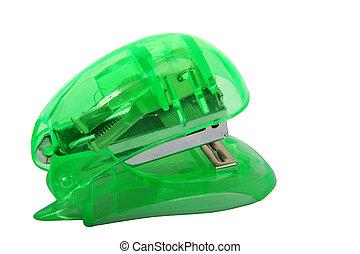 Green Stapler - Digital photo of a green stapler.