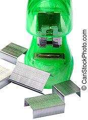 Green Stapler - Digital photo of a green stapler.