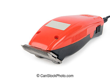 hair clippers - isolated red hair clippers