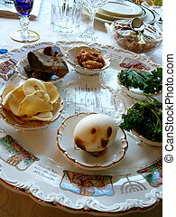Passover Seder Plate - Traditional Passover Seder Plate